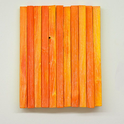 Joseph Egan / Joseph Egan fruit  2018 various paints on wood