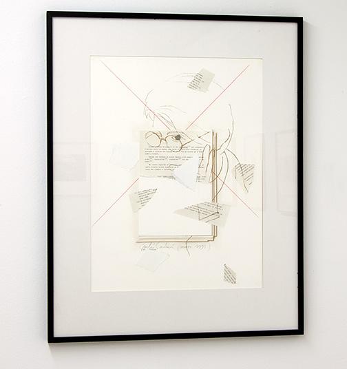 Giulio Paolini / Giulio Paolini Ni le soleil ni la mort  1993  64 x 48 cm collage on paper