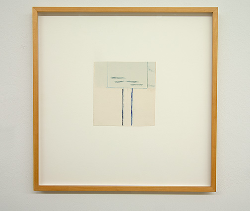 James Bishop / James Bishop Untitled  2011  15 x 14.5 cm Oil and crayon on paper