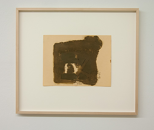 James Bishop / James Bishop Untitled  1982  20 x 26.5 cm oil and crayon on paper