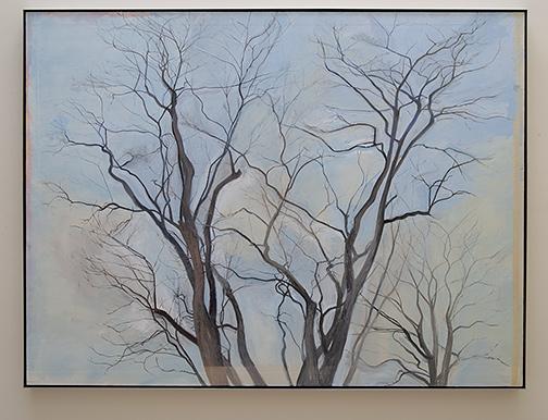 Sylvia Plimack Mangold / Sylvia Plimack Mangold The Locust Trees  1988  152.4 x 203.2 cm / 60 x 80  inch oil on linen