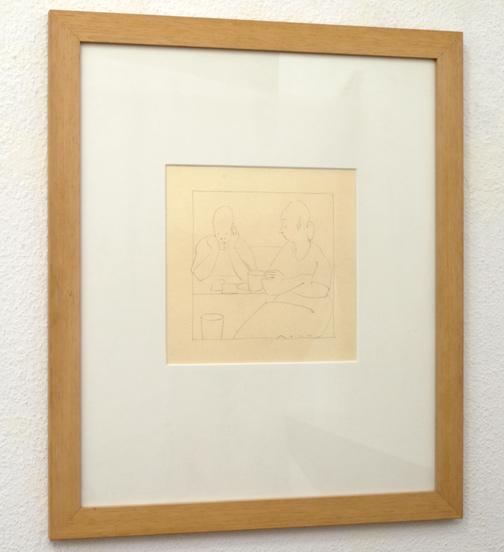 Antonio Calderara / Senza Titolo  1956  39.5 x 32.5 cm Grafit auf Papier