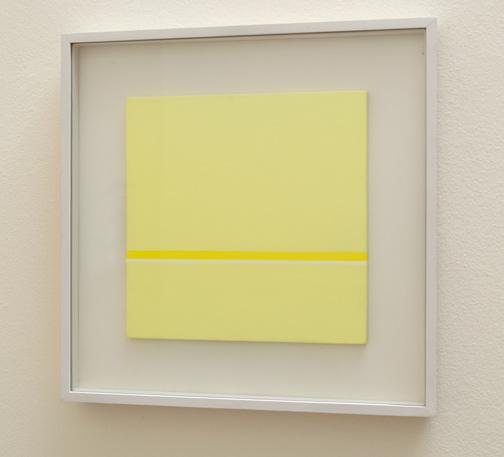 Antonio Calderara / Orizzonte (giallo)  1968  27 x 27 cm Oel auf Holztafel