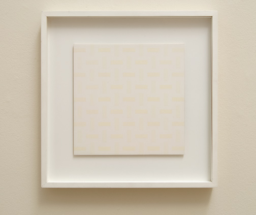 Antonio Calderara / Pittura -5-  1974  27 x 27 cm Oel auf Holztafel