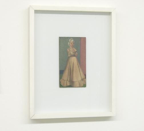 Antonio Calderara / Figura Femminile   17 x 9.5 cm Oel auf Holztafel