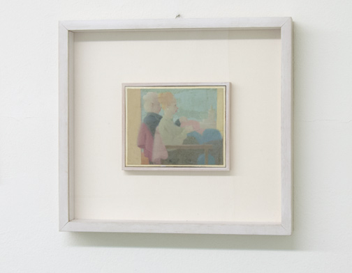 Antonio Calderara / Figure  1952  11.8 x 15 cm Oil on wood