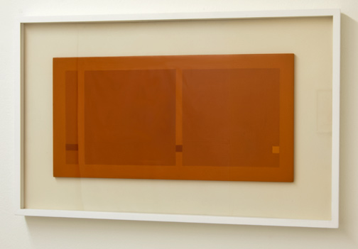 Antonio Calderara / Quadrati e Rettangoli  1967  27 x 54 cm Oel auf Holztafel