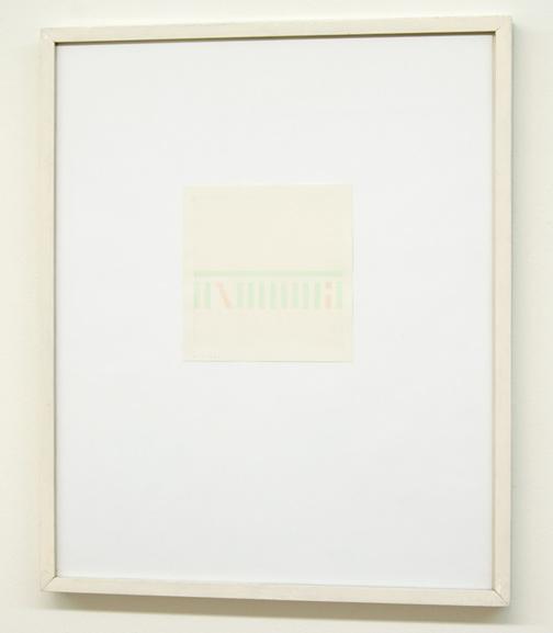 Antonio Calderara / Lettera di un Convalescente  1976  13.5 x 13.5 cm Aquarell on paper