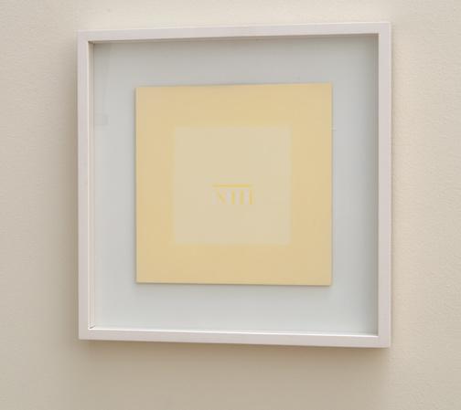 Antonio Calderara / Senza Titolo  1976  27 x 27 cm Oel auf Holztafel