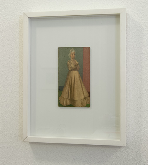 Antonio Calderara / Antonio Calderara Figura femminile  17 x 9.5 cm Oel auf Leinwand