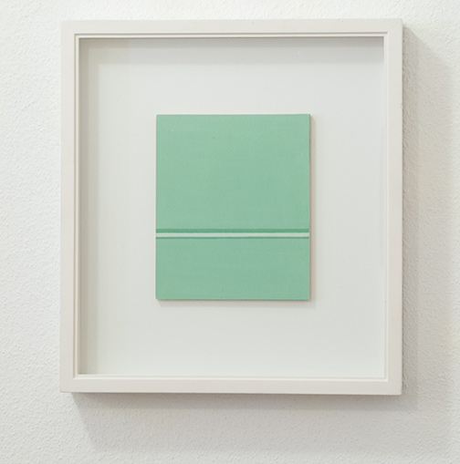Antonio Calderara / Antonio Calderara Senza titolo  1967 18.5 x 15.5 cm Oel auf Papier auf Holz