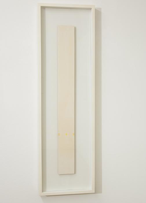 Antonio Calderara / Antonio Calderara Senza titolo  1973 80 cm x 9 cm Oel auf Holztafel