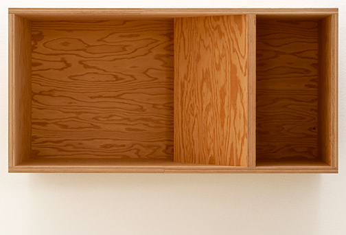 Donald Judd / Untitled (89-48)  1989  50 x 100 x 50 cm douglas fir plywood