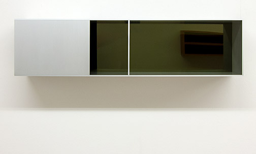 Donald Judd / Untitled (91-156)  1991  25 x 100 x 25 cm Clear anodized aluminium with transparent yellow over black acrylic sheets