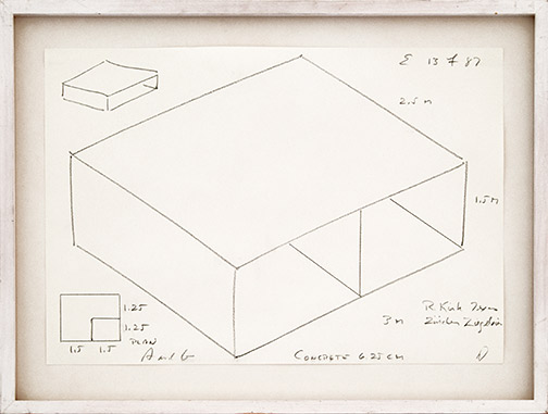 Donald Judd / Untitled  1987  24 x 48 cm pencil on paper