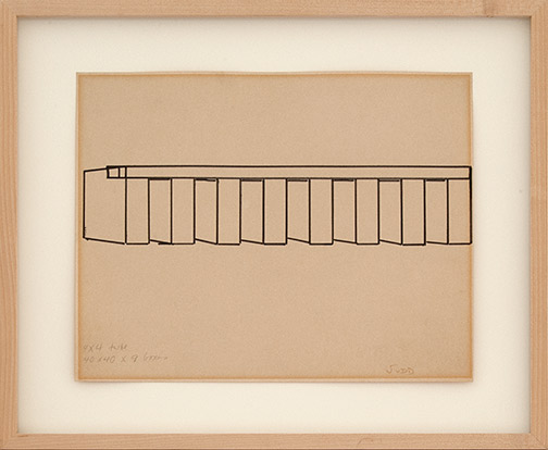 Donald Judd / Untitled  1964 ca. 28 x 34.5 cm pencil and felt tip pen on paper