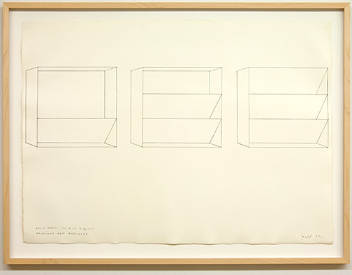Donald Judd / Untitled  1982  56 x 78 cm pencil on paper