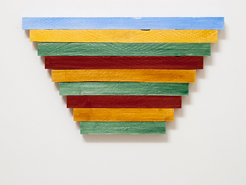 Sol LeWitt / Joseph Egan  paint to color (Nr. 2)  2015  40.5 x 70 x 3 cm Ölfarben auf Holz