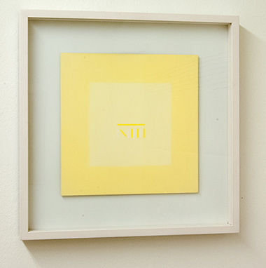 Sol LeWitt / Antonio Calderara (1903-1978) Lettera di un convalescente  1976  27 x 27 cm Oil on wood