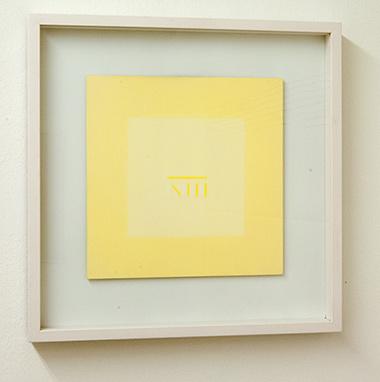 Sol LeWitt / Antonio Calderara (1903-1978) Lettera di un convalescente  1976  27 x 27 cm Öl auf Holz