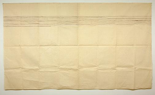 Sol LeWitt / Giorgio Griffa  o.T.  1975  150 x 260 cm Acryl auf Leinwand