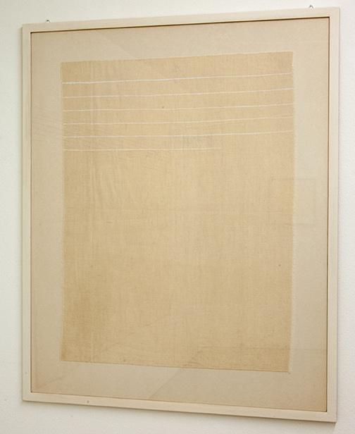 Sol LeWitt / Giorgio Griffa  o.T.  1974  70 x 53.5 cm Acryl on canvas