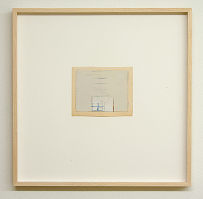 Sol LeWitt / James Bishop  Untitled  2014  11.6 x 14.3 cm Öl, Farbstift und Collage auf Papier