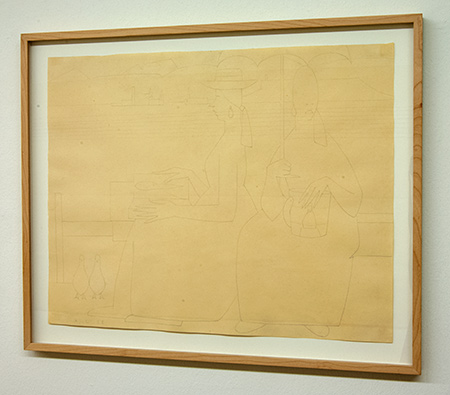Sol LeWitt / Antonio Calderara (1903-1978) Le amiche  1958  40 x 51 cm Pencil on paper