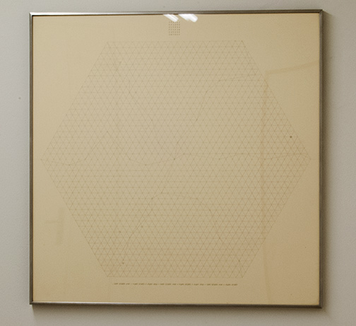 Sol LeWitt / Will Insley (1929-2011) Channel Space, Ratio  1969 - 1973  75.5 x 75.5 cm Bleistift auf Papier