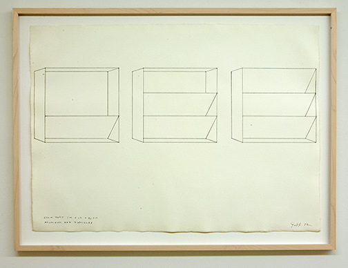 Sol LeWitt / Donald Judd (1928-1994) Untitled  1982  56 x 78 cm Pencil on paper