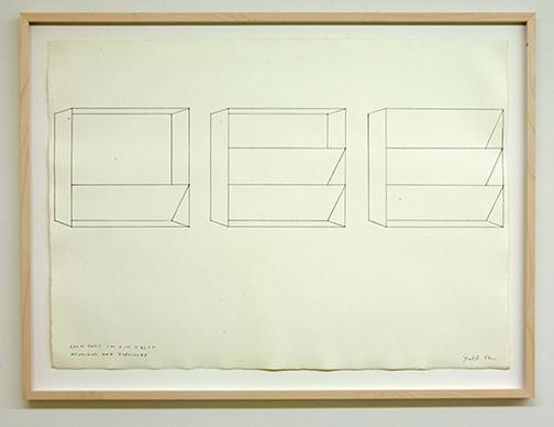 Sol LeWitt / Donald Judd (1928-1994) Untitled  1982  56 x 78 cm Bleistift auf Papier