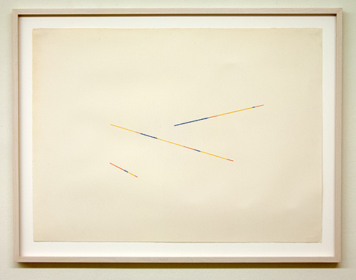 Sol LeWitt / Fred Sandback (1943-2003) Untitled  1986  56.7 x 76.5 cm Pencil and color pencil on paper