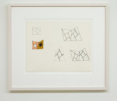 Sol LeWitt / Robert Mangold  Untitled  1988  27 x 35 cm Bleistift und Farbstift auf Papier