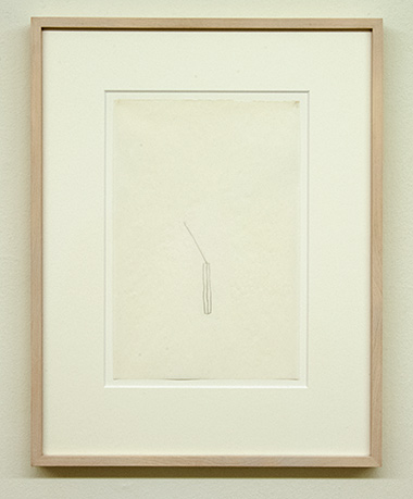 "Sol LeWitt / Richard Tuttle  52 1/2"" Center Point Works V (4)  1976  22.8 x 15.2 cm Bleistift auf Papier"