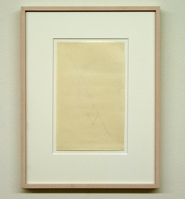 "Sol LeWitt / Richard Tuttle  48 1/2"" Center Point Works I (10)  1976  20.3 x 12.7 cm  Pencil on paper"