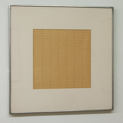 Sol LeWitt / Agnes Martin (1912-2004) Untitled  1965  22.3 x 22.3 cm Ink on paper
