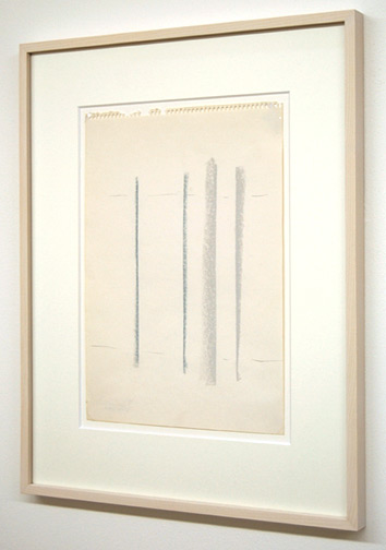 Fred Sandback / Untitled  1982 33.9 x 24 cm / 13 x 9.5
