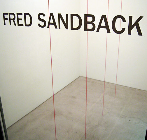 Fred Sandback / Sculptures and Drawings