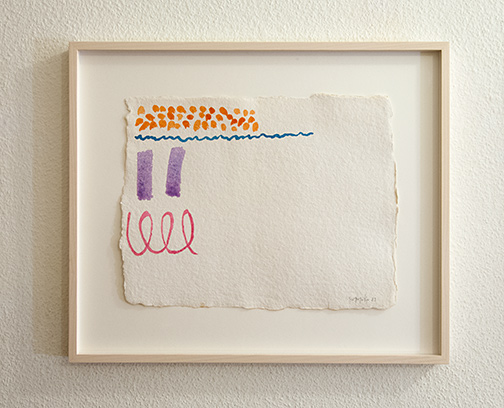 Giorgio Griffa / Untitled  1983  23.5 x 40 cm watercolor on paper