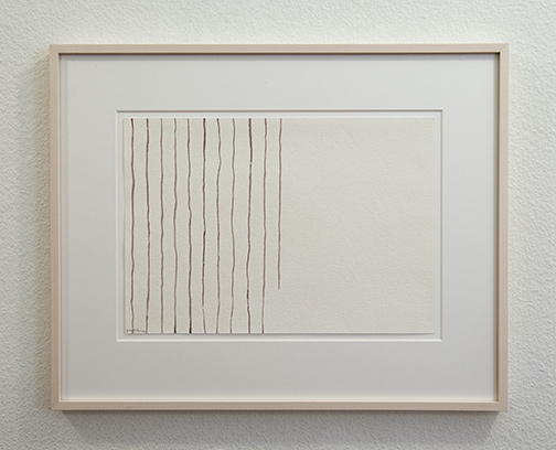 Giorgio Griffa / Untitled  1978  25 x 36 cm watercolor on paper