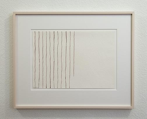 Giorgio Griffa / Untitled  1978  25 x 36 cm watercolor on paper