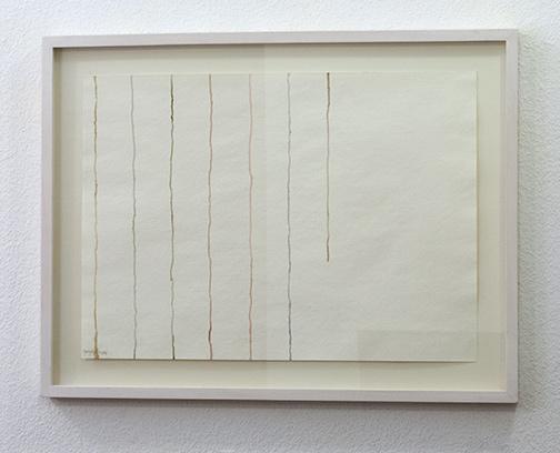 Giorgio Griffa / Untitled  1978  36 x 50 cm watercolor on paper