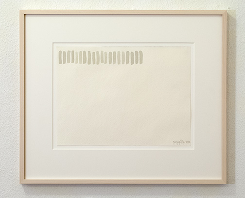 Giorgio Griffa / Untitled  1977  23 x 31 cm watercolor on paper