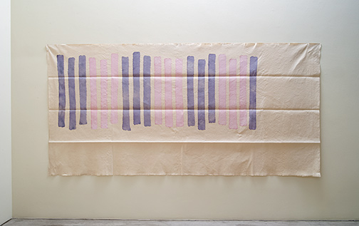 Giorgio Griffa / Verticale  1978  180 x 370 cm acrylic on light canvas