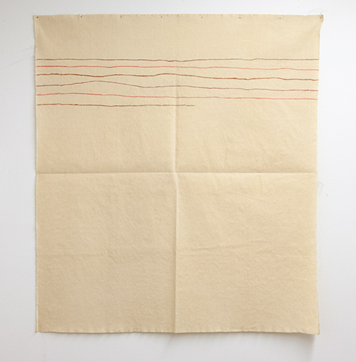 Giorgio Griffa / Linee orizzontali  1974  120 x 106 cm  acrylic on light canvas