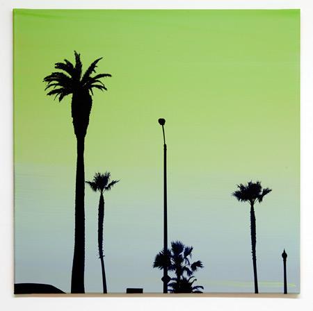 Glen Rubsamen / the gardeners remain selfhypnotized  2010 70 x 70 cm acrylic on canvas