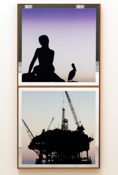 Glen Rubsamen / In Place of Love I  2010 143.5 x 72 cm digital image on mirror