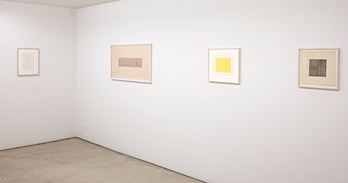 James Bishop,  				Antonio Calderara,  				Joseph Egan,  				Dan Flavin,  				Richard Francisco,  				Sol LeWitt,  				Robert Mangold,  				Agnes Martin,  				Sylvia Plimack Mangold,  				David Rabinowitch,  				Fred Sandback,  				Richard Tuttle, Grids & Structures