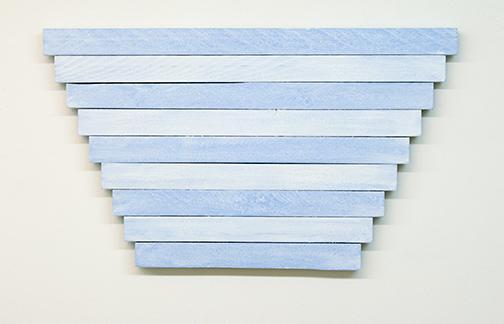 Joseph Egan / Joseph Egan in winter  2015  40 x 70 x 3 cm oil paint on wood