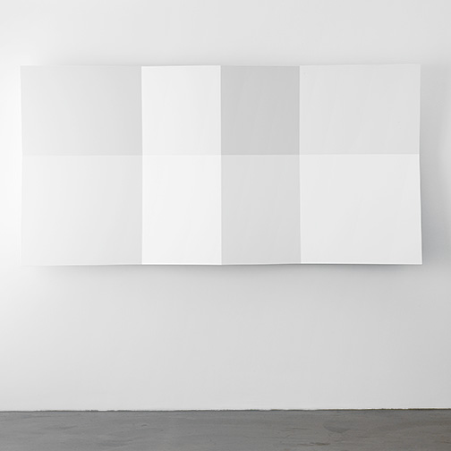 Andreas Christen / Andreaas Christen untitled  1999  120 x 240 x 23 cm MDF board, white sprayed
